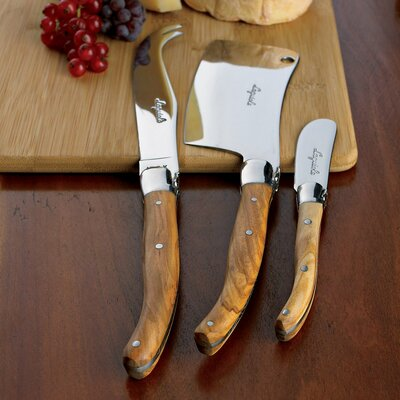 Jean Dubost Laguiole 4 Piece Cheese Knife Set