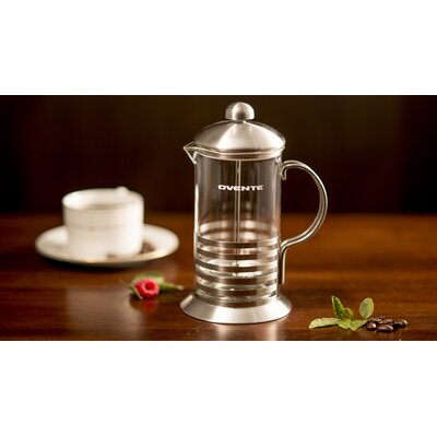 ovente stainless steel french press coffee maker reviews wayfair. Black Bedroom Furniture Sets. Home Design Ideas