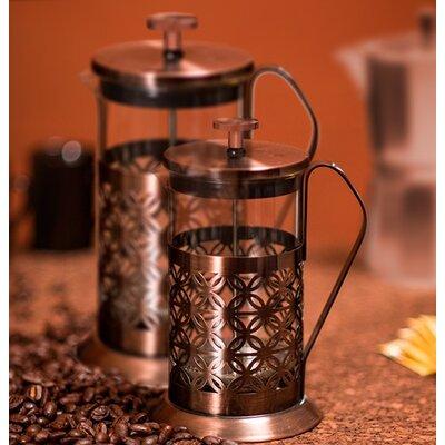 ovente flower french press coffee maker reviews wayfair. Black Bedroom Furniture Sets. Home Design Ideas