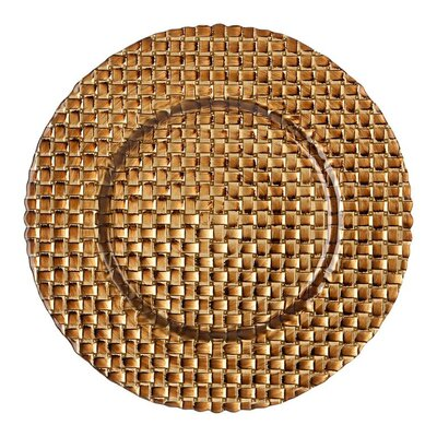 "BBJ Linen 13"" Braid Glass Charger Plate"