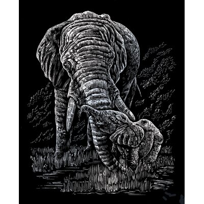 Royal & Langnickel Elephant and Baby Art Engraving