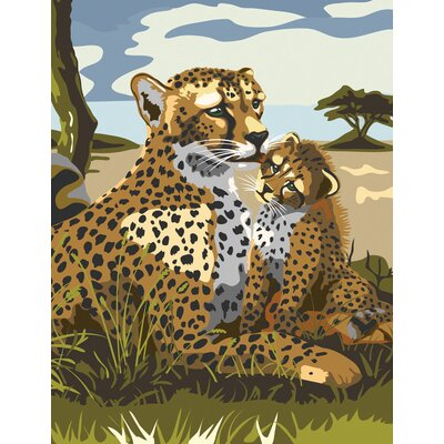 Royal & Langnickel Painting by Numbers Junior Small Leopard Set