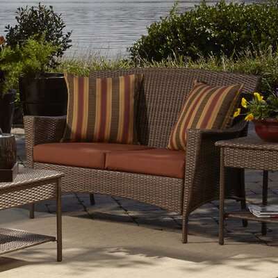Key Biscayne Loveseat with Cushion by Panama Jack