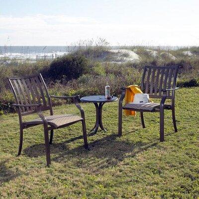 Panama Jack Outdoor Island Breeze Bistro 3 Piece Lounge Seating Group