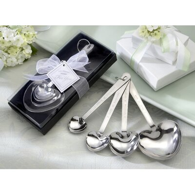 ''Love Beyond Measure'' Heart Measuring Spoons in Gift Box by Kate Aspen