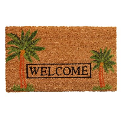 Home & More Palm Welcome Doormat