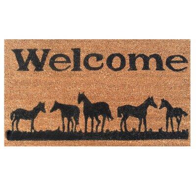 Home & More Horses Welcome Doormat