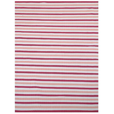 Home & More Pink Stripe Area Rug
