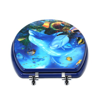 Topseat 3D Ocean Series Dolphin Mother and Calf Round Toilet Seat