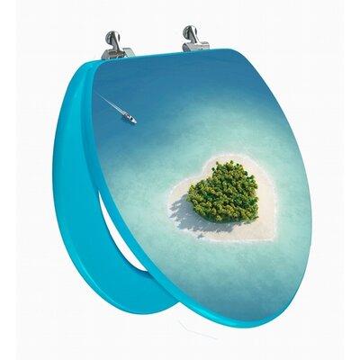 Topseat 3D Series Beach Elongated Toilet Seat