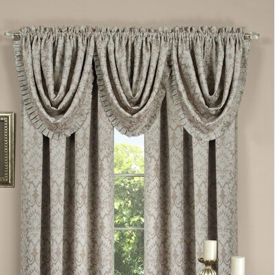 "Sutton Pleated Waterfall 52"" Curtain Valance Product Photo"