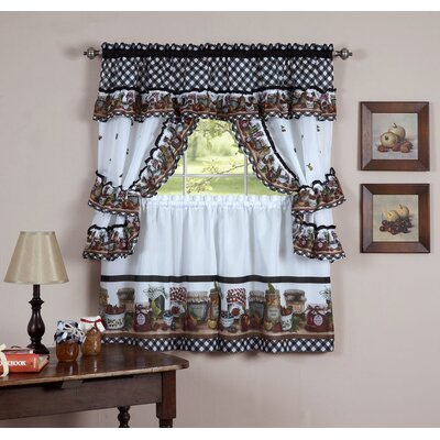 Mason Jars Valance and Tier Set Product Photo