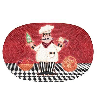 Achim Importing Co Red Chef Buono Appetito Area Rug