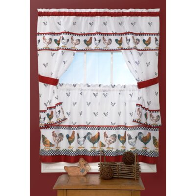 "Top of the Morning Cottage 57"" Valance and Tier Set Product Photo"