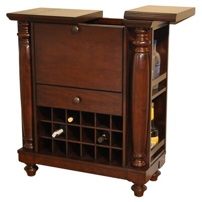 Eci Furniture Rustic Bar With Wine Storage Reviews Wayfair