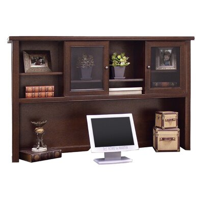 kathy ireland Home by Martin Furniture Tribeca Loft Executive Desk and Hutch