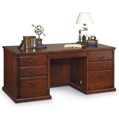 Huntington Oxford Double Pedestal Executive Desk by kathy ireland Home by Martin Furniture