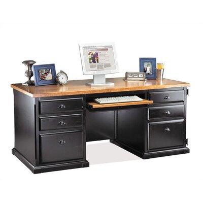 kathy ireland Home by Martin Furniture Southampton Onyx Executive Desk