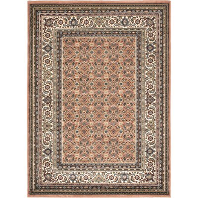 Copper Medallion Floral Rug by Ecarpet Gallery