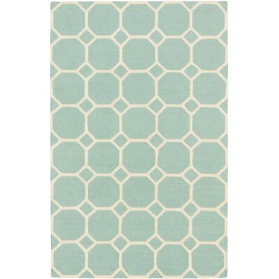 Kasbah Casual Hand Tufted Light Teal Green Area Rug by Ecarpet Gallery