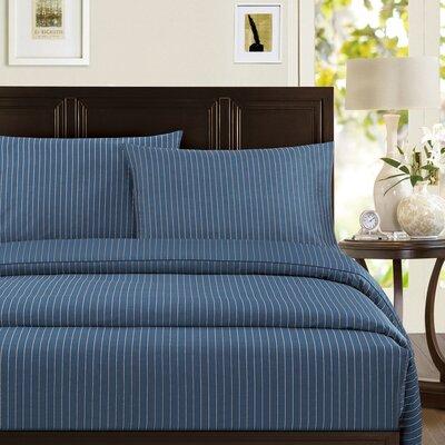 Pinstripe Cotton Sateen Standard Pillowcase by Echelon Home