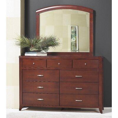 Brighton 9 Drawer Dresser with Mirror by Modus