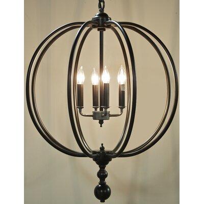 Globe 4 Light Candle Chandelier by Noir