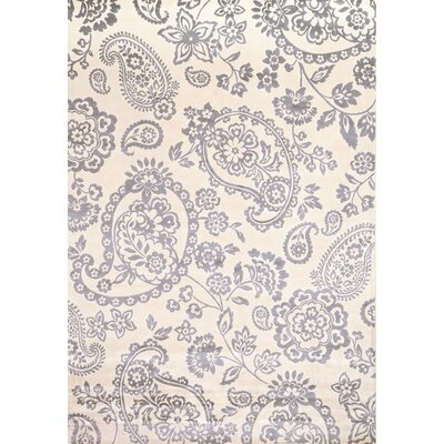 Sonoma Light Blue/Ivory Hinsley Floral Rug by Abacasa