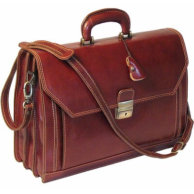 Venezia Attache Case Leather Briefcase by Floto Imports