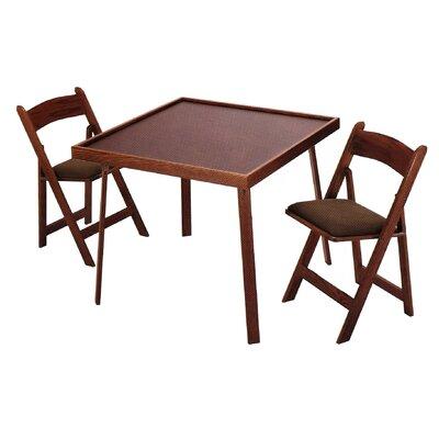 "Kestell Furniture 35"" Oak Folding Card Table Set"