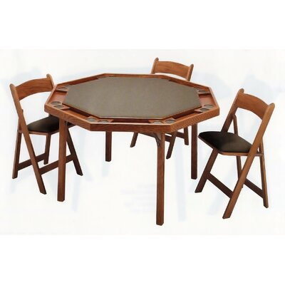 Kestell furniture 52 maple contemporary folding poker for Table 52 reviews