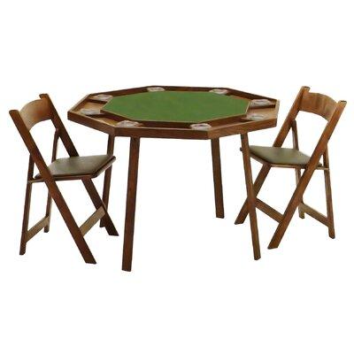 Kestell Furniture 46 Quot Oak Compact Folding Poker Table Set