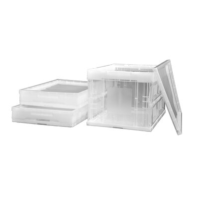 Trinity 46.5 Qt. 3 Piece Collapsible Crate Set