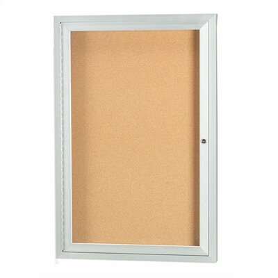 AARCO Wall Mounted Enclosed Bulletin Board