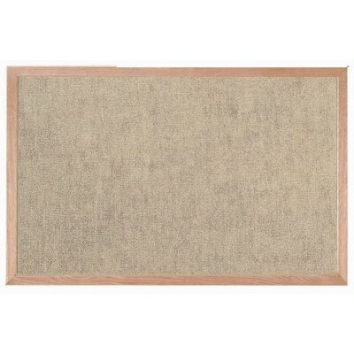 AARCO Burlap Weave Wall Mounted Bulletin Board