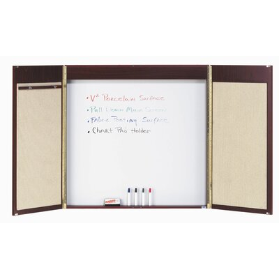 AARCO Conference Cabinet Enclosed Combination Whiteboard