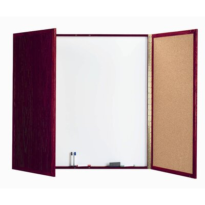 AARCO Cabinet Enclosed Magnetic Whiteboard