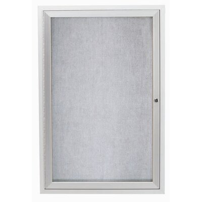 AARCO Outdoor Illuminated Enclosed Wall Mounted Bulleting Board