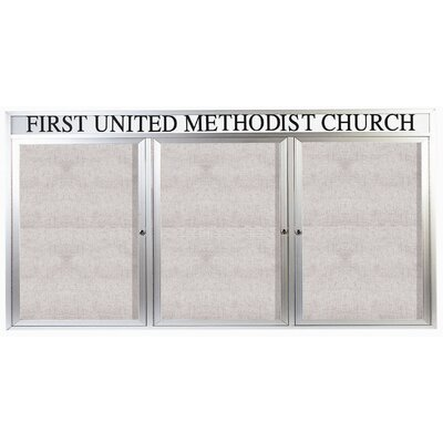 AARCO Illuminated Outdoor Enclosed Wall Mounted Bulletin Board