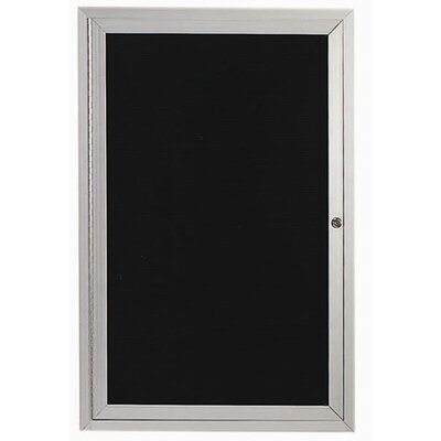 AARCO Directory Cabinet Enclosed Wall Mounted Bulletin Board