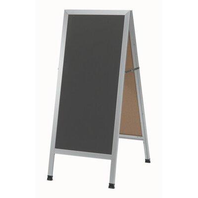 AARCO A-Frame Sidewalk Free Standing Chalkboard