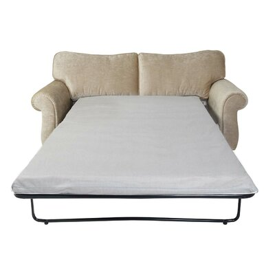"""Fox Hill Trading 4.75"""" Gel Infused Memory Foam Sofa Mattress and Contour Pillow Set"""
