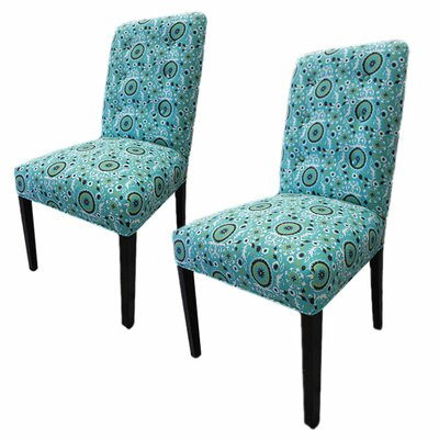 Kacey Suzani Cotton Parson Chair by Sole Designs