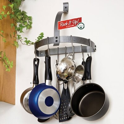 RACK IT UP! Half Moon Wall Mounted Pot Rack by Enclume