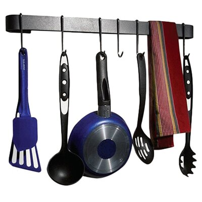 RACK IT UP! Wall Mounted Utensil Bar Pot Rack by Enclume