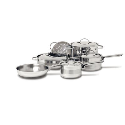 Gourmet 3-Ply Stainless Steel 10-Piece Cookware Set by Cuisinox