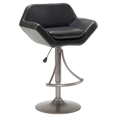 Hillsdale Furniture Valencia Adjustable Height Swivel Bar Stool with Cushion