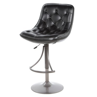 Aspen Adjustable Height Swivel Bar Stool with Cushion by Hillsdale