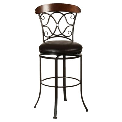 """Hillsdale Furniture Dundee 26"""" Swivel Bar Stool with Cushion"""