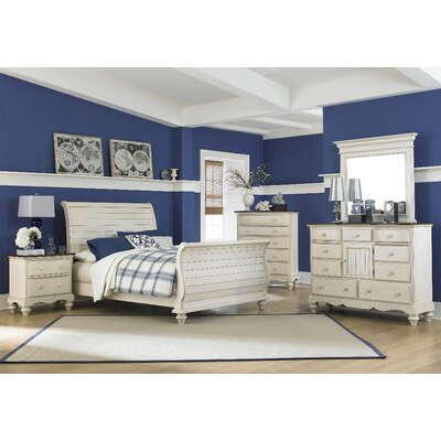 Pine Island Sleigh 4 Piece Bedroom Set by Hillsdale